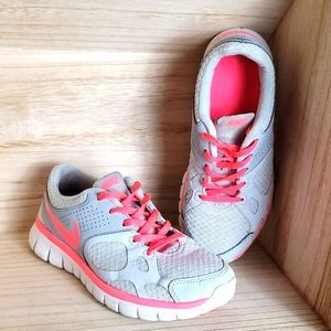 Nike Womens Flex Running Blue Pink Shoes